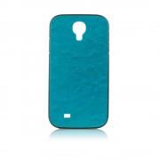 Калъф с кожен гръб – силиконов Fashion Style за Samsung Galaxy s4 син