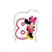 Lumanare party cifra 8 Minnie