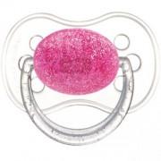 Glittrande Napp Glamour med rund sugdel - Rosa 18+ månader