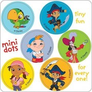Jake And The Never Land Pirates Mini Dot Stickers Birthday Party Favors 450 Per Pack