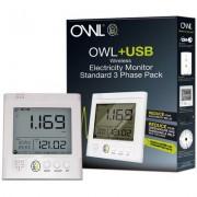 Compteur d'énergie OWL+USB CM160 installation triphasée - OWL