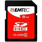 Card de memorie Emtec SDHC, 8GB, Clasa 4, Citire 18MB/s, Scriere 6MB/s
