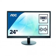 AOC 23.6 inch LED Monitor, DVI, VGA, Speakers, Vesa E2470SWDA