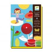 Комплект за оцветяване с цветен пясък In a garden Djeco Color Sands