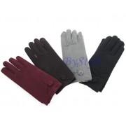 Eleganckie rękawiczki z kwiatkiem