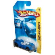 Mattel Hot Wheels 2007 New Models Series 1:64 Scale Die Cast Metal Car # 17 of 36 - Blue Convertible Sport Coupe Concept Car FORD GTX1 by Hot Wheels