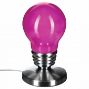 Atmosphera Lampe touch Ampoule - H. 21,5 - Rose