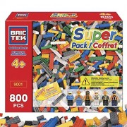 BRICTEK 19001 Super Pack 800 pcs Building Blocks (Compatible with Legos) with 2 Block Removers