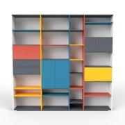 Bücherregal Weiß, Classyc Beine, MDF, 265 x 254 x 35