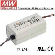 MeanWell Alimentation de marque Mean Well spéciale Led de 12W apv-12-12