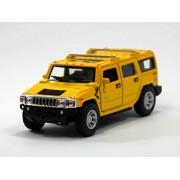 caja de la ventana amarilla Kinsmart 1:40 Hummer H2 SUV 200-527