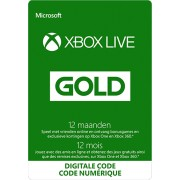 Xbox Live Gold-lidmaatschap voor 12 maanden (digitale code)