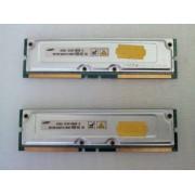 Samsung - 2 x 128 Mo - Mémoire Rambus Rdram - (ref MR16R1624DF0-CM8)
