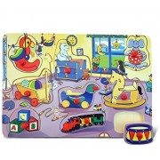Puzzled Peg Puzzle Large - Children Bedroom Wooden Toys by Puzzled