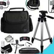 Premium Well Padded Camera CASE / BAG and Full Size 60 inch TRIPOD Accessories KIT SONY Cyber-Shot DSC-RX100 IV RX10 II HX90V XW500 QX30 RX100 III H400 H300 HX400V QX10 QX100 RX1R RX10 RX100 II XH50V XH300 NE