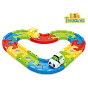 Magic Track Set - easy to assemble building blocks for toddlers of age 18M+ colorful pieces clamped together to build u