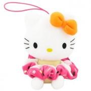 Hello Kitty Plush Hairband Holder: Orange Bow/Dark Pink Hairband