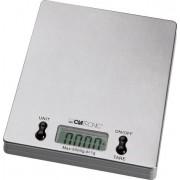 Clatronic KW 3367 - Báscula de cocina digital, 5 kg pasos 1 g, función tara, color plateado