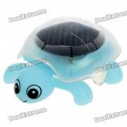 Solar Powered Crawling Tortoise Educational Toy - Light Blue