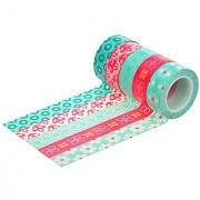 HIART Repositionable Washi Tape Bubble Gum Collection Set of 5