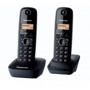 Telefon DECT PANASONIC Twin KX-TG1612FXH, negru, fara fir