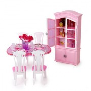 Dollhouse Furniture Dining Room Play Set for Barbie Dolls