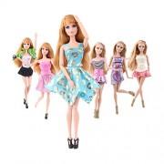 Yacool® 6pcs dei vestiti del partito del bicchierino di modo del mini vestito fatto a mano abito per muñeca