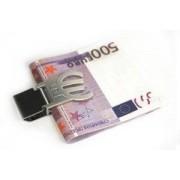 Зажим для денег *Евро* с гравировкой