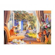 1000 Piece DeLuxe Jigsaw Puzzle Garden View by The House of Puzzles