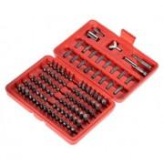 Комплект 100 Аксесоара - отвертка, накрайници за отвертки и ключове Хром Ванадиум VPP