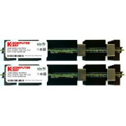 Komputerbay 4GB (2x 2GB) DDR2 PC2-5300F 667MHz CL5 ECC Fully Buffered 2Rx4 FB-DIMM (240 PIN) con dissipatori di calore per i computer Apple