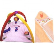 BABY BEDDING SET WITH MOSQUITO NET BABY WRAPPER (4001C2006)