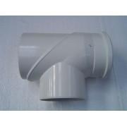 ellenörzõ T-idom kondenz átm: 80/125 PPs/Alu PAET80125
