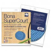 Supercourt Athletic Floorcare Microfiber Cleaning Pad, 12 Dia, Lt/dk Blue,2/pk