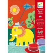 Atelier creativ Pictura cu nisip Djeco Animale pentru copii