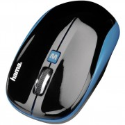 Mouse Wireless, 1200dpi, negru-albastru, HAMA AM-7600