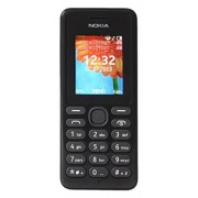 Nokia 108 Telefono Cellulare, Dual SIM, Nero [Italia]