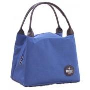 DANYN impermeable almuerzo de picnic con aislamiento Moda refrigerador de la bolsa de asas del viaje cremallera Organizador Caja,azul marino