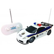 RC Police Car 1:20 Scale Full Function Remote Control - Flashing Lights + Siren Sounds + Light Up Wheels