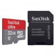 Карта памет SANDISK micro SDHCUHS-I, + Адаптер, 32GB, Class 10, SD-SDQUNC-032G-GN6MA