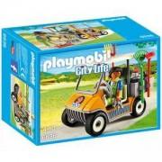 Комплект Плеймобил 6636 - Количка на пазач в зоопарк - Playmobil, 291189