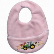 John Deere Down on the Farm Bib - Pink