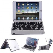 HDE Sleek Rechargeable Wireless Bluetooth Keyboard Stand for iPad Mini (Black)