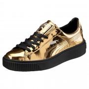 プーマ バスケット プラットフォーム METALLIC ウィメンズ Gold-Gold-Puma Black