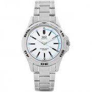 Q&Q Quartz White Round Men Watch 100Q472-201Y
