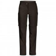 FRILUFTS Ocoa ZipPants Damen Gr. 44 - schwarz oliv-dunkelgrün / black olive - Reisehosen