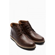 Mens Next Leather Cleated Sole Boot - Brown