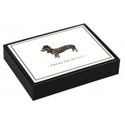Alice Scott Vintage Prints Dapper Dachshund Luxe Thank You Notes by Galison