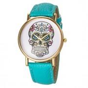 Mulheres Relógio de Moda Quartz PU Banda Caveira Preta / Branco / Azul / Vermelho / Marrom / Verde / Amarelo / Rose marca-