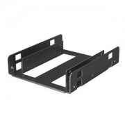 Adaptor Lian Li HD-322X de la 3.5 inch la 2x 2.5 inch HDD/SSD, aluminiu, culoare neagra